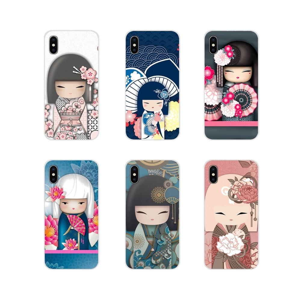 Kawaii Japanische Kokeshi Puppe Für Samsung Galaxy A3 A5 A7 A9 A8 Stern A6 Plus 2018 2015 2016 2017 Zubehör phone Cases Covers