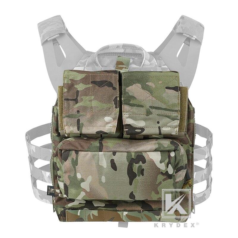 Paquete táctico KRYDEX, mochila con Panel con cremallera, bolsa portadora de engranajes de combate táctico Multicam para CPC NCPC, chaleco AVS JPC2.0