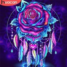 HUACAN 5D DIY Diamond Painting Rose Needlework Diamond Embroidery Flower Diamond Mosaic Full Drill Handicraft Decor For Home