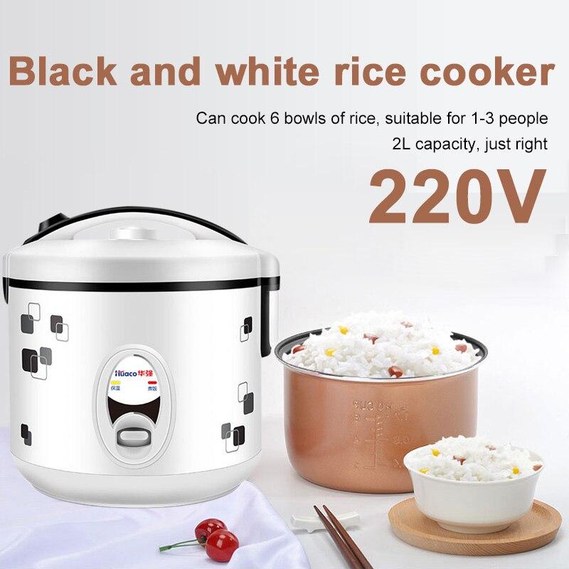 Mini cocina de arroz Cocina eléctrica calefacción caja de almuerzo portátil multifuncional Huaqiang 2L 220V sopa de cocina de huevo Real