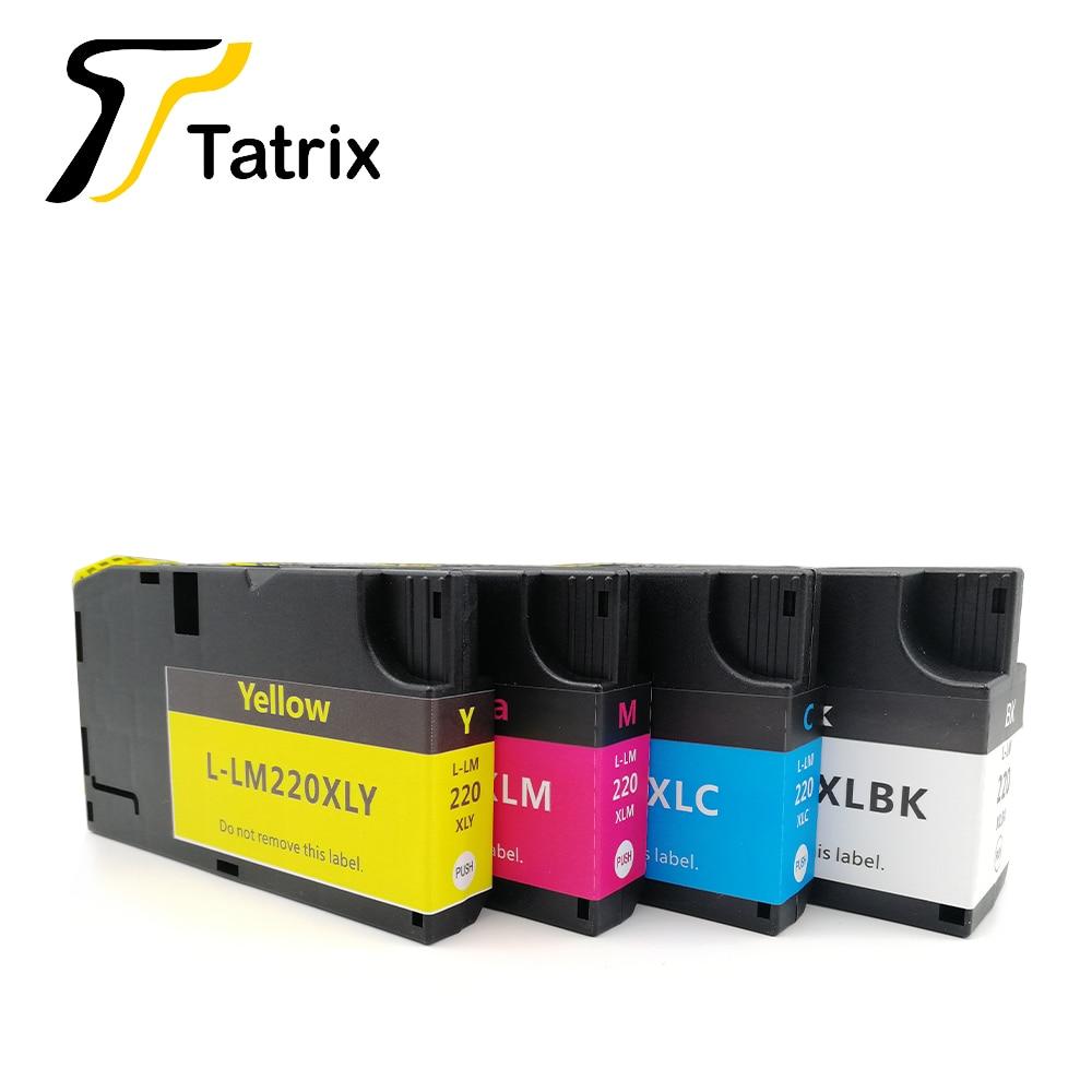 Cartucho de tinta compatible con Tatrix LM220 LM-220XL para impresora Lexmark OfficeEdge Pro4000c Pro5500t en Rusia/Oriente Medio/mercado de OA