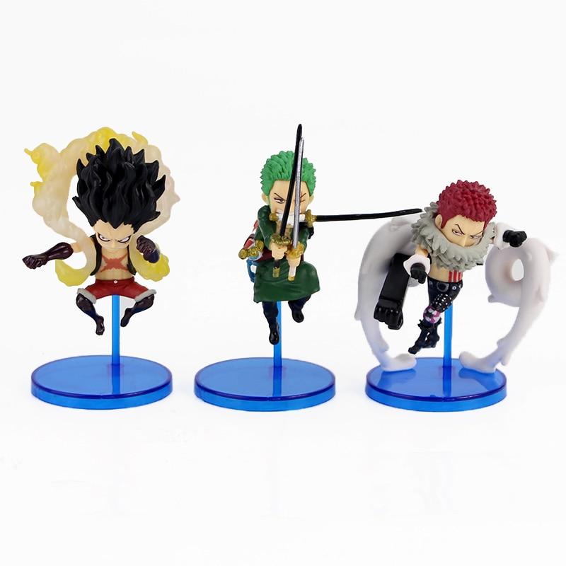 6pcs/set One Piece World Collectable Figure Whole Cake Island 3 WCF Charlotte Katakuri Luffy Zoro Sanji Ace Marco