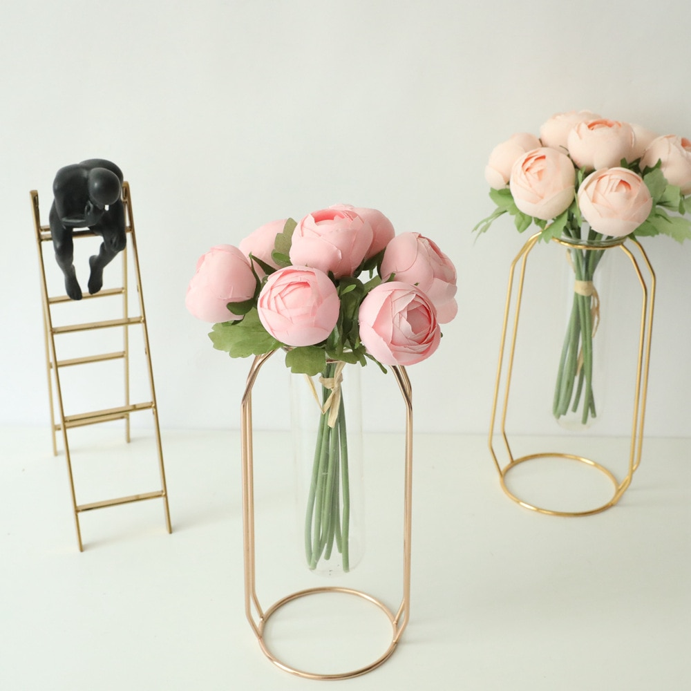 Artificial Flowers Lotus Bunch for Home Decoration Silk Rose Bouquet Fake Peony Wedding Decorative Artificial Flores Wreath