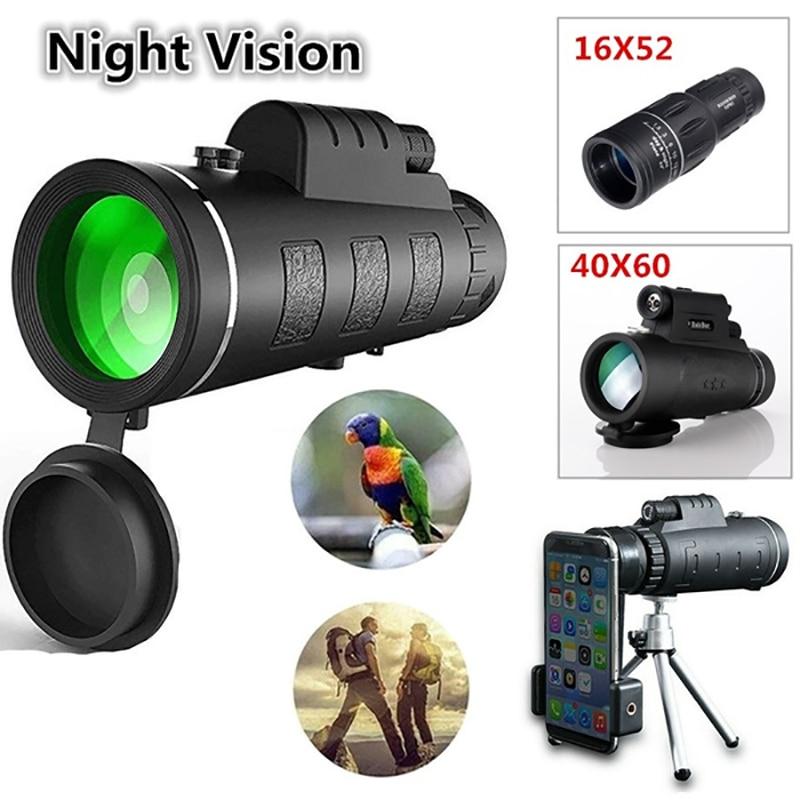 40x60 HD Monocular Powerful Binoculars Zoom Night Vision Multi-function Telescope Military HD Professional Hunting Waterpr