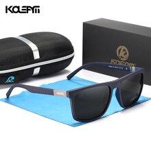 KDEAM Comfort miękkie czarne okulary męskie polaryzacyjne TR90 materiał zawiasy sprężynowe okulary do jazdy męskiej kategorii 3