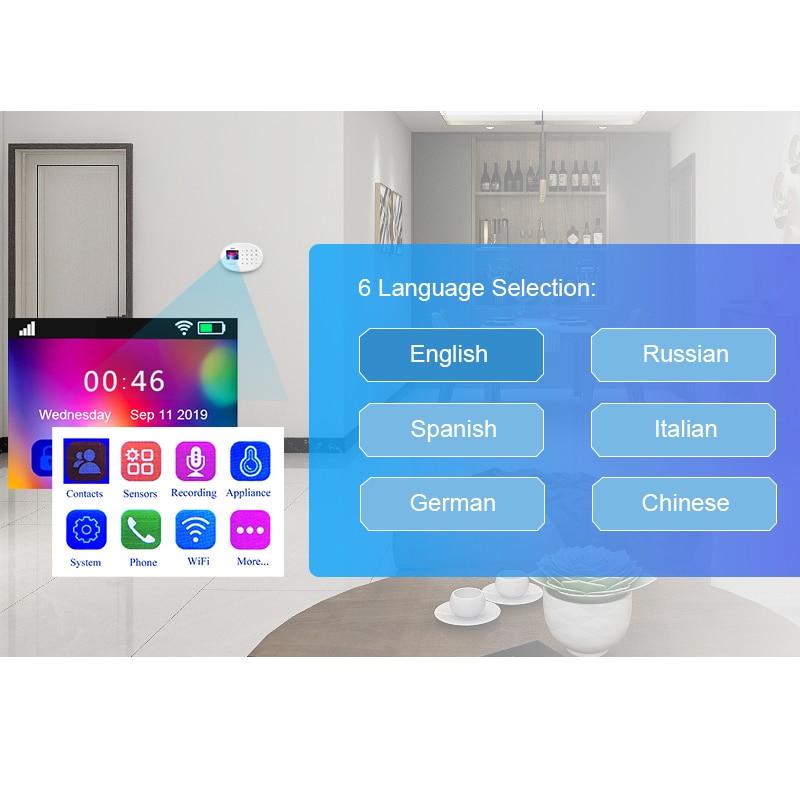 KERUI Smart Home Safety Alarm System Wifi GSM Wireless Connections Sensor APP Control TFT Color Display Smoke Sensor System enlarge