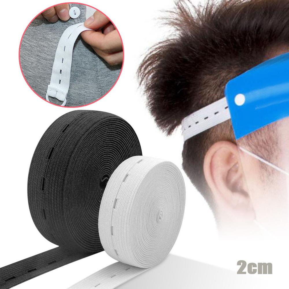2cm 40 quintal elástico roupas largas buraco ajustável buttonhole bandas elásticas para rosto máscara capa acessórios de costura qe