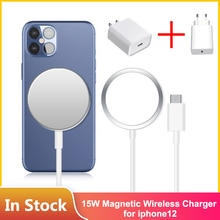 Original 15W Magnetic Wireless Charger For iPhone 12 Pro Max Mini Qi Fast Charger for iPhone 12 USB