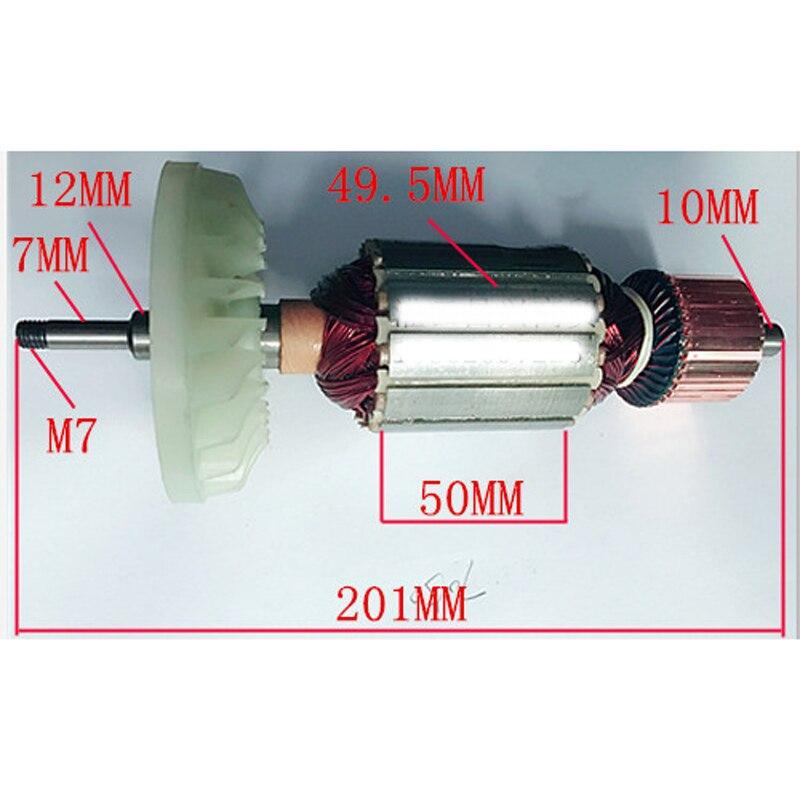 AC220-240V المحرك الدوار مرساة استبدال ل ماكيتا GA7050 زاوية طحن آلة طحن الدوار الطاقة أداة إصلاح قطع الغيار