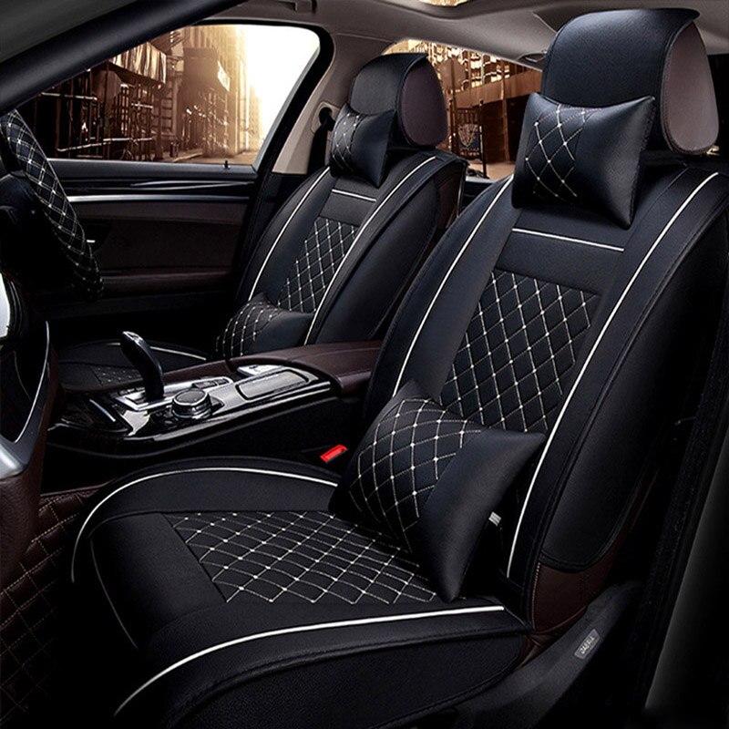 Universal cubierta de asiento de cuero de coche para bmw e90 e46 520, 525x320x3 f25 x5 e70 f10 f20 x1 x6 x4 e36 modelo accesorios de coche