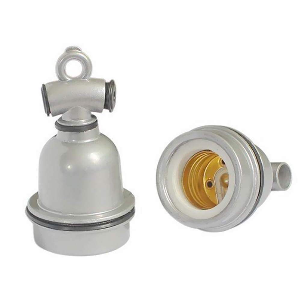 Casquillo de lámpara E27 Vintage Industrial Edison soporte de Lámpara antigua de toma de luz colgante