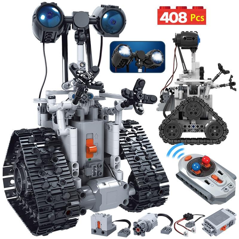 ZKZC 408 шт. креативный городской робот на дистанционном управлении, Электрический строительный блок, технический пульт дистанционного управления, Интеллектуальный робот, кирпичи, игрушки для детей|Блочные конструкторы| | АлиЭкспресс