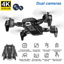 KK6 4K haute définition aérienne Photo avion pliant 360 degrés Rotation quatre axes Mini télécommande aérienne Photo aéronef sans pilote (UAV) jouet