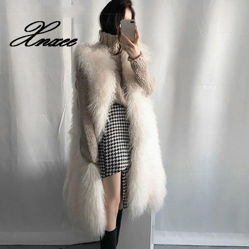 hairy maclary scattercat Women Faux Fur Long Vest 2020 Autumn Winter Fluffy Fur Sleeveless Waistcoat Female Elegant Soft Hairy Fashion Overcoat
