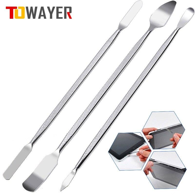 Towayer 3pcs Universal Mobile Phone Repair Opening Tool Metal Disassemble Crowbar Metal Steel Pry Phone Hand Tool Set