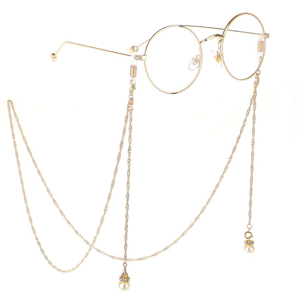 2020 Chic Fashion Reading Glasses Chain Metal Sunglasses Vintage Cords Casual Pearl Beaded Eyeglass