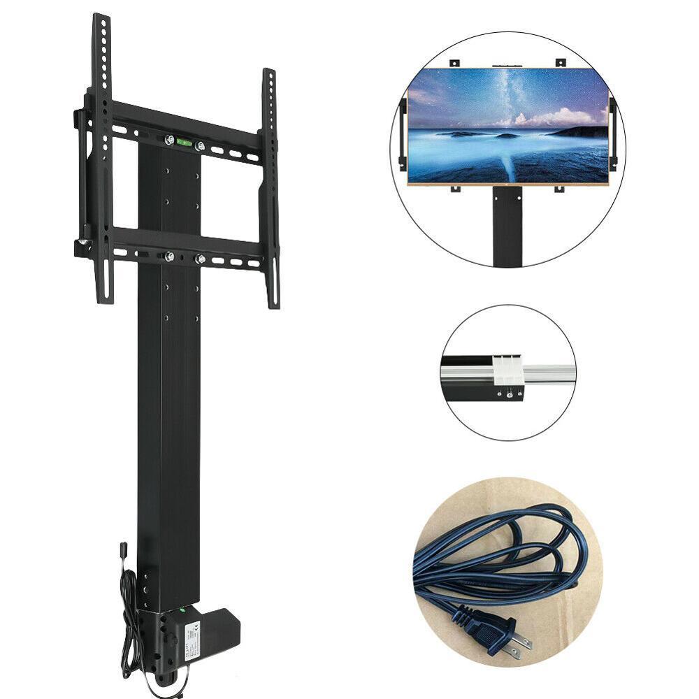 مصعد تلفاز آلي بمحرك بالبلازما/LCD ، ارتفاع قابل للتعديل 800 مللي متر ، مع حامل تثبيت وجهاز تحكم عن بعد للتلفزيونات 32