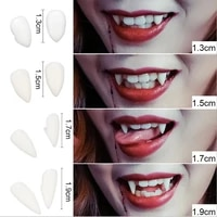 diy environmentally friendly resin halloween costume props party 1 pair 4 size dentures props teeth fangs