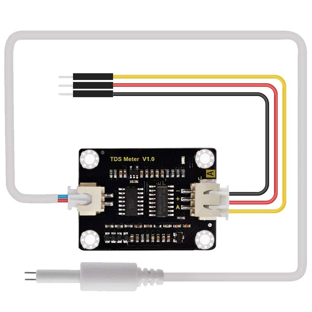 Liquid Detection Easy Use Waterproof Probe Quality Monitoring DIY Analog TDS Sensor Module Meter Water Conductivity For Arduino