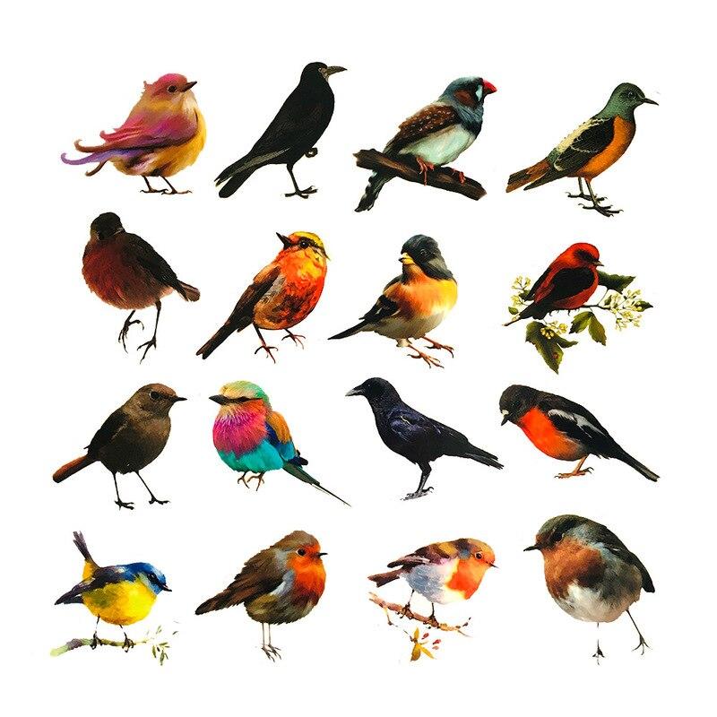 40-46-pz-vintage-uccello-corvo-rondine-frutta-adesivo-fai-da-te-album-scrapbooking-diario-spazzatura-happy-planner-adesivi-decorativi