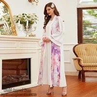 ramadan eid mubarak white open muslim fashion abaya kimono dubai turkey islam robe longue vetement femme abayas for women kaftan
