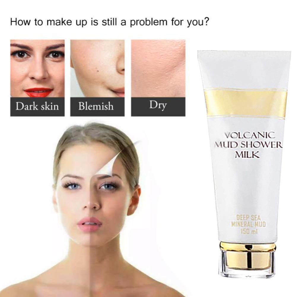 1pc Whitening Volcanic Mud Bath Milk Cream Body Wash Women Exfoliating Lotion For Men Body L6Y9