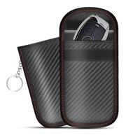 Чехол для блокировки автомобильного сигнала, клетка Faraday, сумка для брелока, сумка для блокировки RFID без ключа