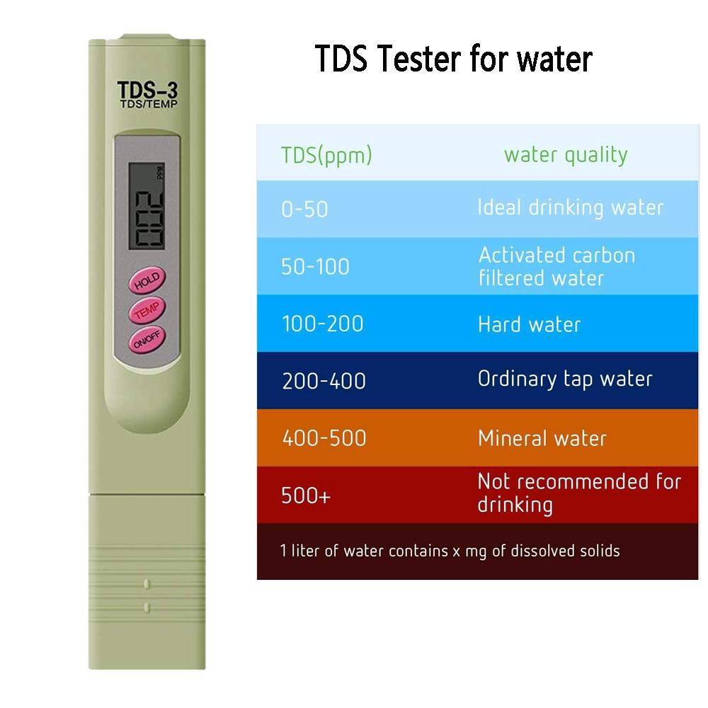 Qualidade da Água Analisador de Pureza da Água Lote Ppm Tds Medidor Tester Portátil Potável Filtro Pen Display Lcd Aquário 100 Pçs – 0-9990