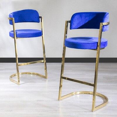 كرسي بار مصنوع من الفولاذ المقاوم للصدأ, فاخر وخفيف الوزن من مصنع صيني