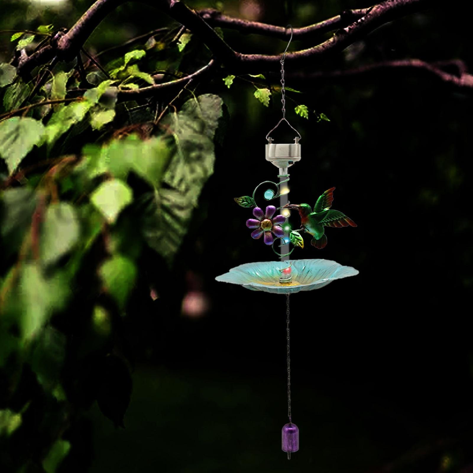 وعاء تغذية للحمام على شكل طائر ، ملحق معلق لتزيين الحديقة والفناء الخارجي