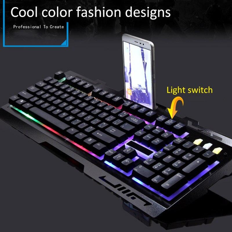 لوحة مفاتيح ألعاب ميكانيكية 2020 خلفية 104 مفتاح معدني ملون بإضاءة خلفية كمبيوتر سلكي لوحة مفاتيح ألعاب لأجهزة الكمبيوتر المحمول وأجهزة شاومي