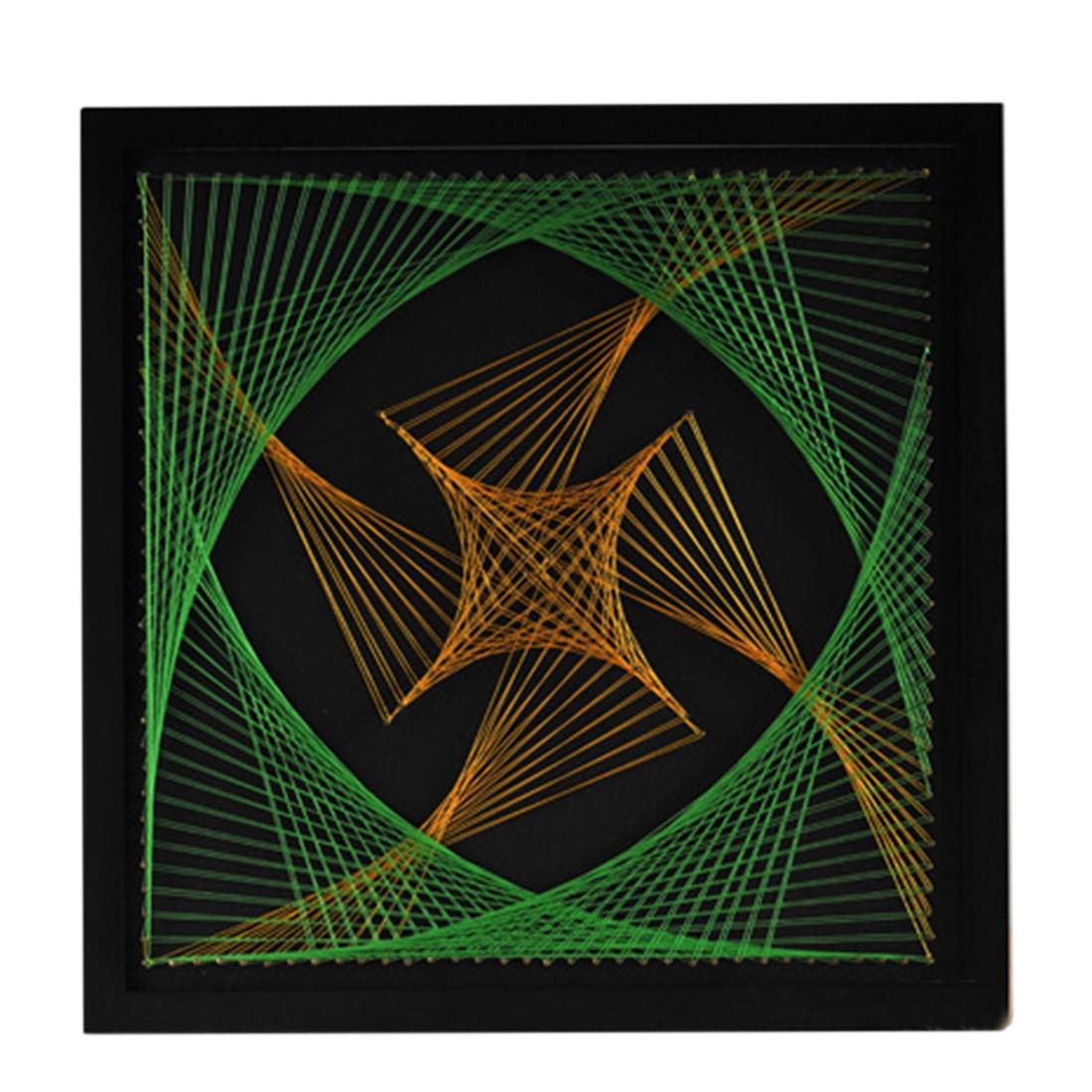DIY hilo 3D pintura Pin Cadena de uñas Kit de arte cuerda geométrica líneas de dibujo pintura arte Kit con marco descompresión