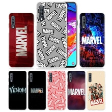 Marvel Comics Logo étui pour samsung Galaxy A50 A70 A20e A90 5G A80 A60 A40 A30 s A10 e A20 A9 A7 2018 Dur Téléphone Coque Sac