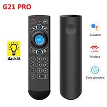 G21 Pro Gyro Smart Stimme Fernbedienung IR Lernen 2,4G Wireless Fly Air Maus für X96 Mini H96 MAX x99 Android TV Box vs G21