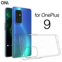 case for oneplus 9 19 tpu silicone clear fitted bumper soft case for oneplus9 one plus transparent back cover