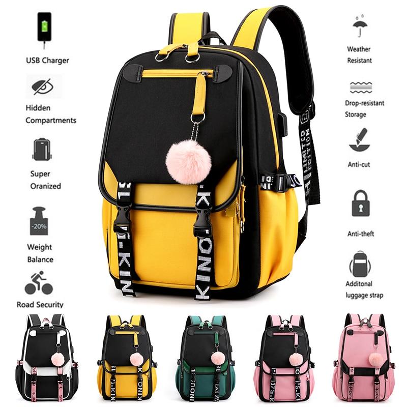 BPZMD, mochila escolar para niños, para niñas, estilo coreano, Negro, Rosa, bonita mochila escolar, mochilas Kawaii para chicas adolescentes, regalo