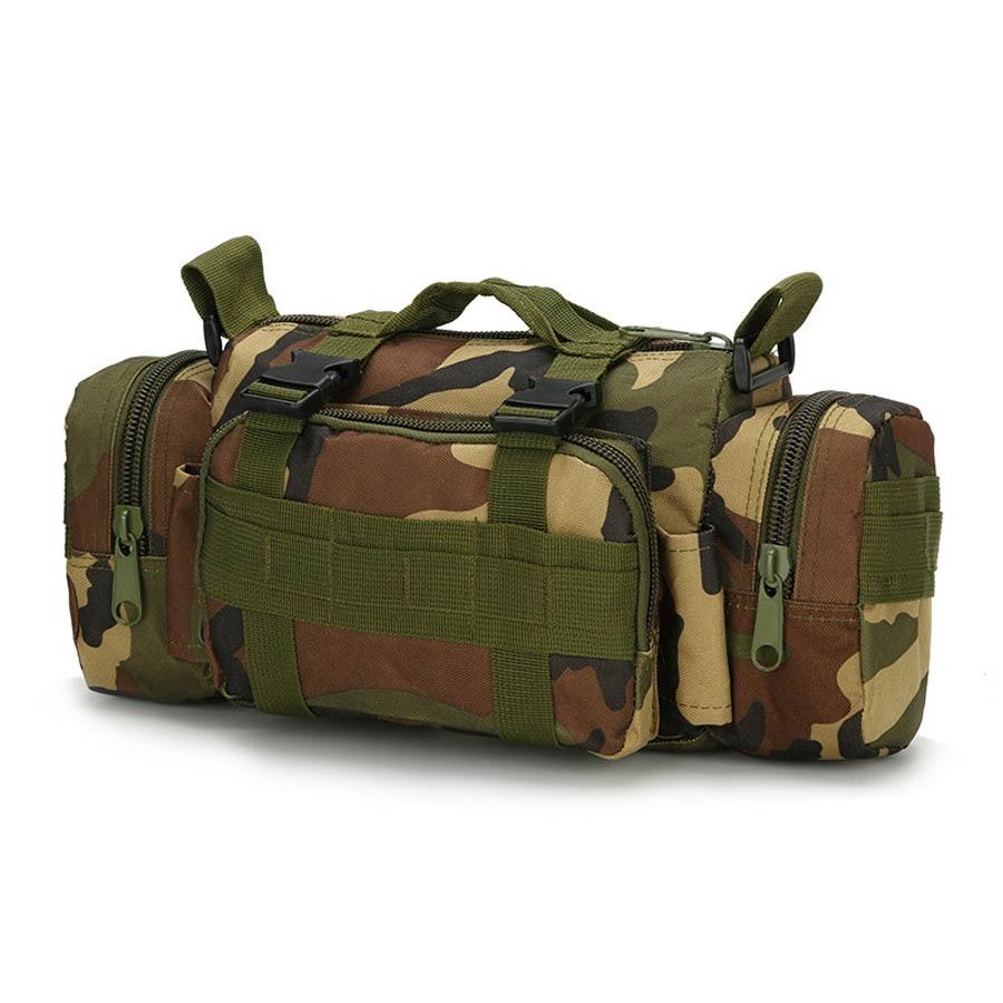 Multi-function Military Tactical Waist Belt Pack Handbag Men Crossbody Shoulder Bag Outdoor Travel Sport Fish Army Molle Bag