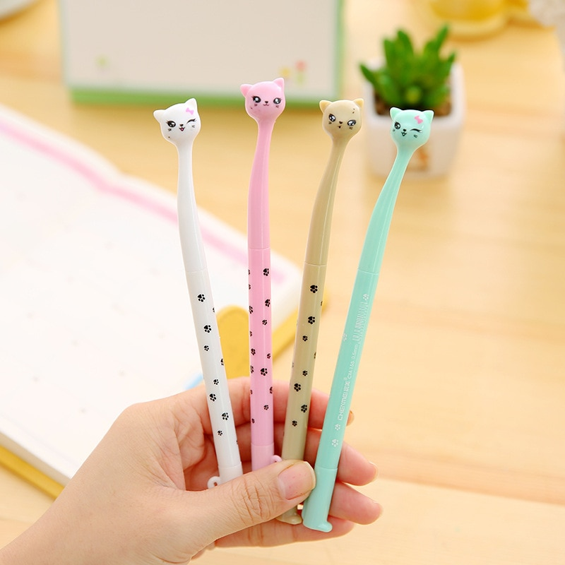 cute cat rabbit gel pens set kawaii stationery gel ink pens for kids gifts writing pen stationery caneta escolar school supplies 4Pcs/Set 0.38mm Creative Cat Cute Pens Kawaii Ink Gel Pen Gift School Office Writing Supplies Stationery Wholesale
