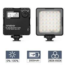 Andoer CL 36 мини Двухцветная светодиодная лампа для освещения видео 2800K 8500K с регулируемой яркостью заполняющий свет с 3 холодными креплениями для обуви LCD Vlog для камеры