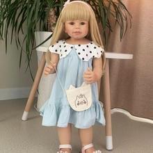 70cm Full Body Silicone inteiro Baby Life Boneca Reborn Toddler Gifts Reborn Babies Doll Kids Toys child clothing model