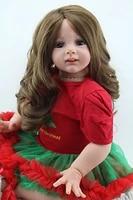24 reborn doll realistic big girl soft vinyl lifelike babytoys long hair gift kids toys for girls