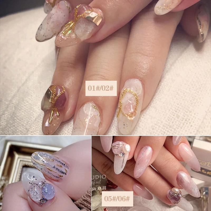 1Box Irregular Stone Crystals Glass Nail Art Manicure Nail Tip Decoration 3D Nails Art Diamonds Supplies Jewelry Accessories