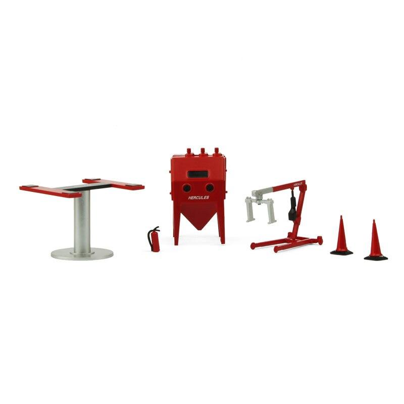 143 Gx4 garage repair workshop field equipment simulation model accessories lift sandblasting machine car vehicle parts boy toy