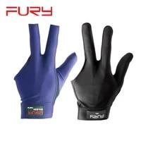 fury billiard gloves non slip breathable three fingers blueblack lr hand professional excellent glove pool billard accessories