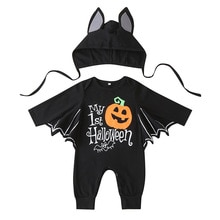 Halloween Baby Rompers Bat Cosplay Toddler Boys Girls Cosplay Clothes Sets Cotton Kids Children's Ou