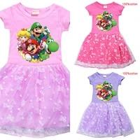 kids girls mario dress child princess dress kids toddler birthday party children 2021 christmas kid dress clothes tutu dress
