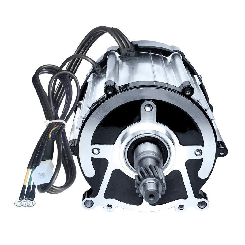 محرك دراجة ثلاثية كهربائي 48 فولت/60 فولت/72 فولت/1000 واط 1200 واط المغناطيس الدائم فرش المحرك التفاضلي ، 16 والعتاد رمح