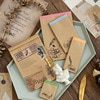 100 hojas Retro cebolla Nota de papel Pad Vintage Material de fondo papel escritura Pad mensaje nota papel Bloc de notas planificador diario