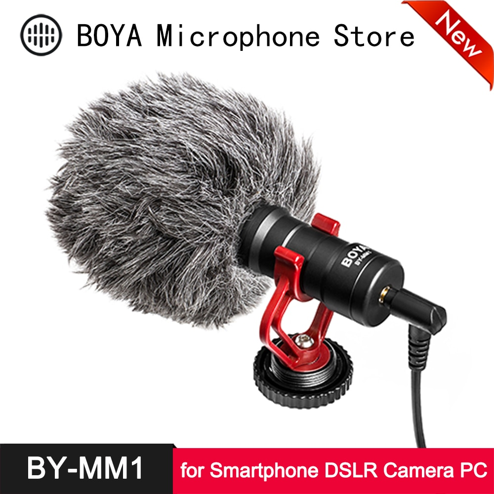 BOYA BY-MM1 Cardioid Shotgun Microphone for iPhone Android Smartphone Canon Nikon Sony DSLR Camera Consumer Camcorder PC Mic