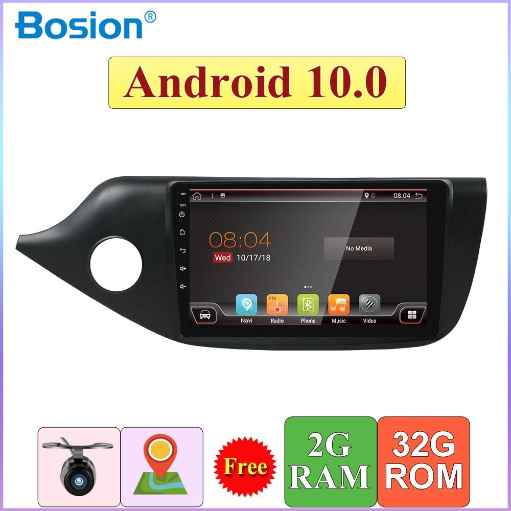 2G + 32G Radio Android 10.0 Autoradio voiture multimédia lecteur vidéo GPS pour Kia Ceed LHD 2012-2016 Navigation BT WIFI DAB